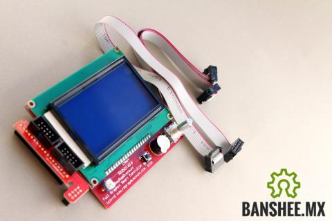 Clon de Modulo de Control Ramps 1.4 Impresora 3D Display Grafico 128x64 y Lector de SD