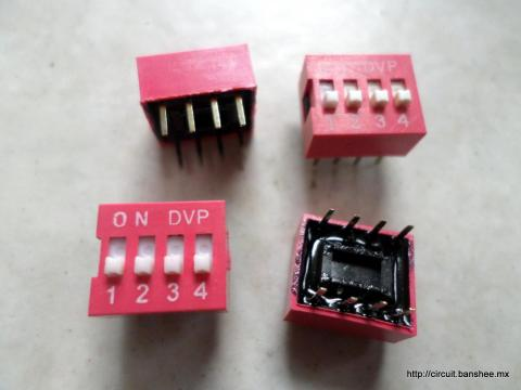 Dip Switch 4 patas Arduino Bnashee.mx