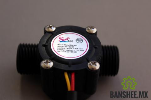 Sensor de Flujo Caudal de Agua y Liquidos 1-30L/min 2.0MPa