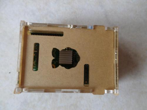 Carcasa Raspberry Pi Case Acrilico Transparente con disipadores de calor