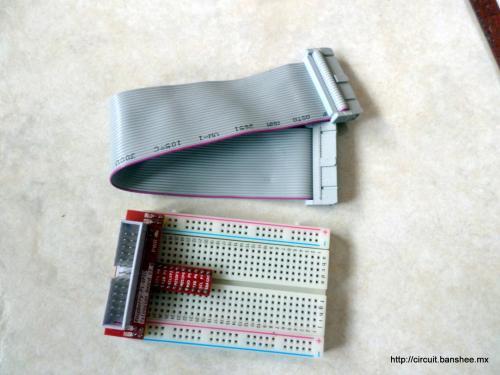 Adaptador GPIO-Proto para Raspberry Pi con Cable.