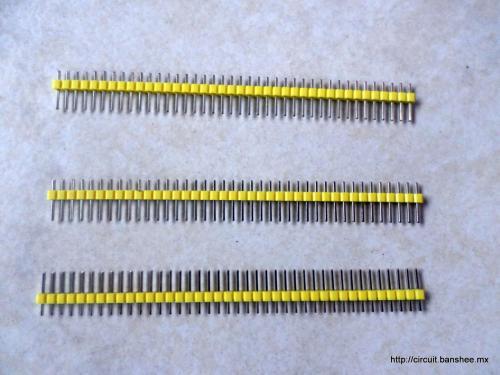 Tira pin macho 40pcs Arduino Bnashee.mx