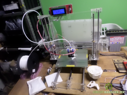 Impresora 3D RepRap Prusa I3 2015 Acrilico Transparente Guadalajara Mexico
