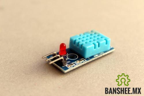 Sensor de Temperatura y Humedad DHT11 Base y Led Indicador