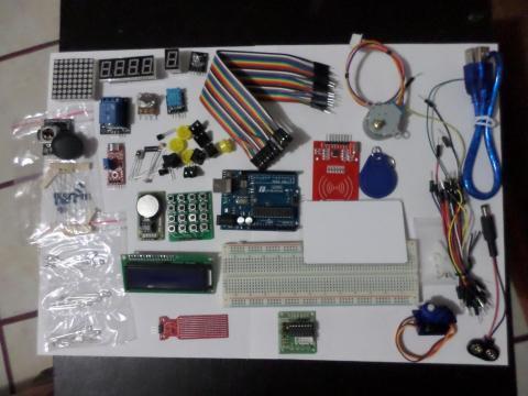 Kit de Aprendizaje Arduino RFID; Servos; Motor a pasos y mucho mas.
