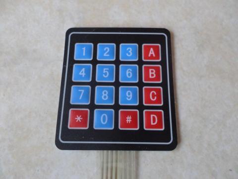 Teclado Matricial Numerico de Membrana de 16 teclas (4x4)