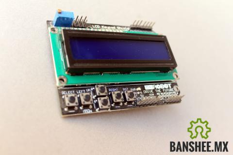 LCD 1602 KeyPad Shield para Arduino (LCD 16x2 y 6 botones)