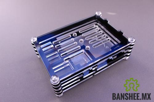 Carcasa Raspberry Pi B+ y Pi 2/3 Modelo B Acrilico Negro en Capas