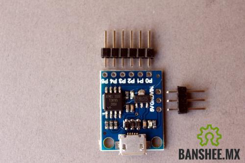 Placa de Desarrollo Attiny85 microUSB SMD (Digispark Compatible)